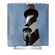 The Old Lantern And The Lighthouse Shower Curtain