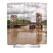 The Old Lift Bridge Shower Curtain