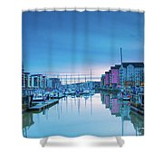 The Old Lock Gates Shower Curtain