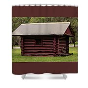 The Old Log Hut Shower Curtain