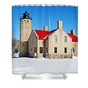 The Old Mackinac Point Lighthouse Shower Curtain