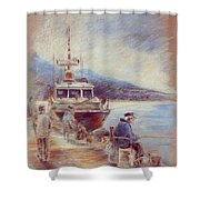 The Old Man And The Sea 01 Shower Curtain