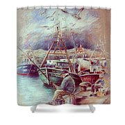 The Old Man And The Sea 02 Shower Curtain