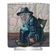 The Old Man Near The Western Wall Shower Curtain