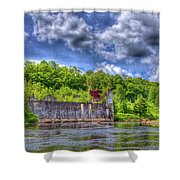 The Old Mckeever Pulp Mill Shower Curtain