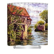 The Old Mill Of Vernon Shower Curtain