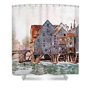 The Old Mills At Meaux Shower Curtain