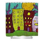 The Old Neighborhood Shower Curtain by Wayne Potrafka