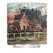 The Old Old House Shower Curtain
