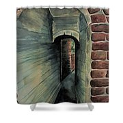 The Old Passageway Shower Curtain