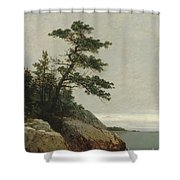 The Old Pine, Darien, Connecticut, 1872  Shower Curtain