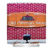 The Old Pittman Store Sign Shower Curtain