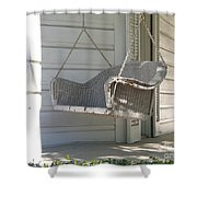 The Old Porch Swing. Shower Curtain