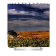 The Old Pumphouse Shower Curtain by David Patterson