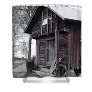 The Old Red House 11x14 Shower Curtain