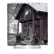 The Old Red House 8x10 Shower Curtain