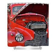 The Old Red Jalopy Shower Curtain