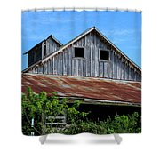 The Old Rusty Barn Shower Curtain