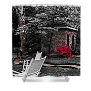 Smokehouse Red Shower Curtain