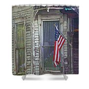 The Old Soldier's Gone Shower Curtain