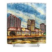 The Old Train Station   Shower Curtain by Ragon Steele