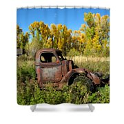 The Old Truck  Chama New Mexico Shower Curtain