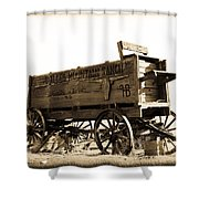 The Old Wagon Shower Curtain