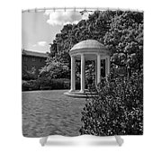 The Old Well At Chapel Hill In Black And White Shower Curtain