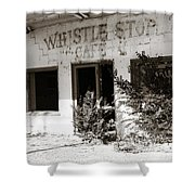 The Old Whistle Stop Cafe Shower Curtain