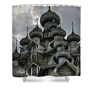 The Old Wooden Church Shower Curtain