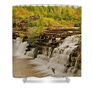 The Old Wooden Dam Shower Curtain