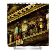 The Olde Apothecary Shop Shower Curtain