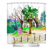 The Ole House In Spring Shower Curtain