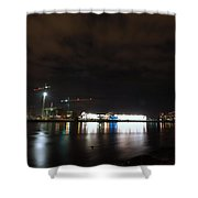 The Olympic Oval At Night Shower Curtain