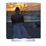 The One That Awakes The Sun II Shower Curtain