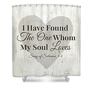 The One Whom My Sould Loves- Art By Linda Woods Shower Curtain