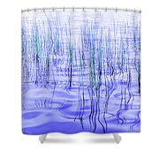 The Ongoing Reeds Experiment Shower Curtain