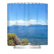 The Open Wive Shower Curtain by Saifon Anaya