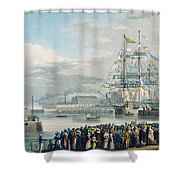 The Opening Of Saint Katharine Docks Shower Curtain