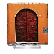 The Orange House Shower Curtain