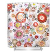 The Orbits Of Joy Shower Curtain