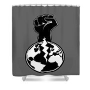 The Orchestrator Fist Shower Curtain