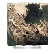 The Oreads Shower Curtain by William-Adolphe Bouguereau
