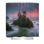 The Oregon Coast Sunset Shower Curtain