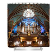 The Organ Inside The Notre Dame In Montreal Shower Curtain