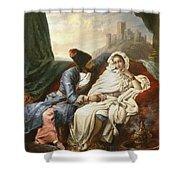 The Oriental Beauty And The Cossack Shower Curtain