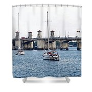 The Original Bridge Of Lions Shower Curtain