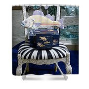 The Original Fish Chair  Shower Curtain