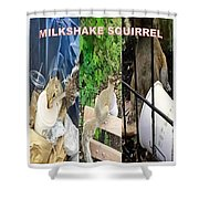 The Original Official Milkshake Squirrel Shower Curtain