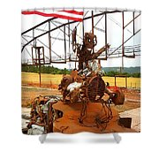 The Origional Full Throttle Saloon Shower Curtain